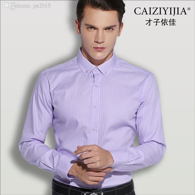 2017 Wholesale Caiziyijia Men'S Long Sleeve Striped Shirt Natural ...
