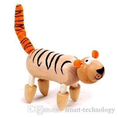 ANAMALZ Jouets 24 Mobile Jouets En Bois Zoo Animaux Poupées Érable Bois Textiles Jouets Pour Enfants Livraison gratuite