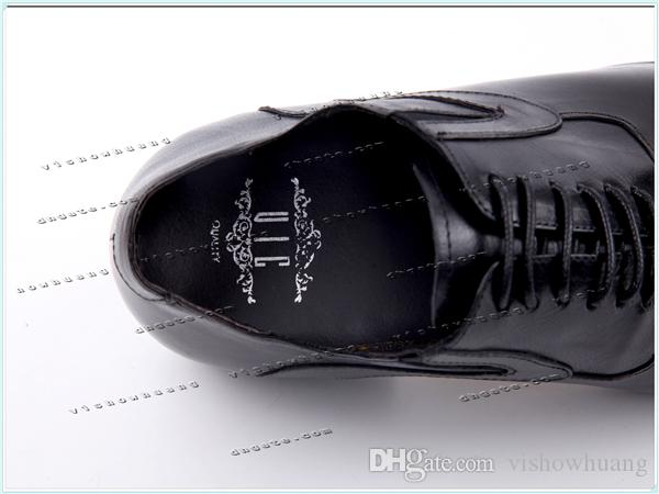 Calfskin Leather Lace Up Wedding Shoes oxford Business Formal Men Shoes Drop Ship Factory Seller Size 37-46 Us5-US12