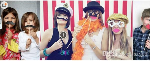 Photo Booth Props Glasses Mustache Lip On A Stick Wedding Birthday Party Fun Favor