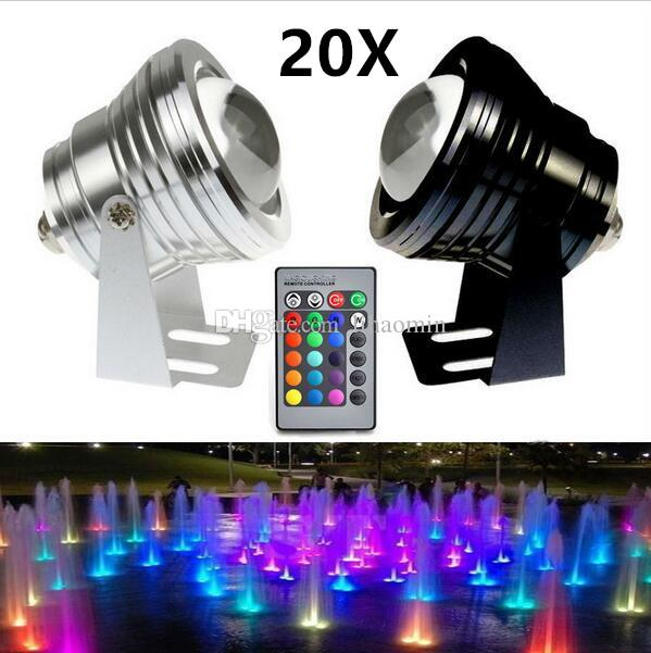 Lights & Lighting 10w Dc12v Rgb Led Underwater Light 1000lm Waterproof Ip68 Flood Lamp With Convex Glass Lenses 3 Years Warranty Via Free Shipping