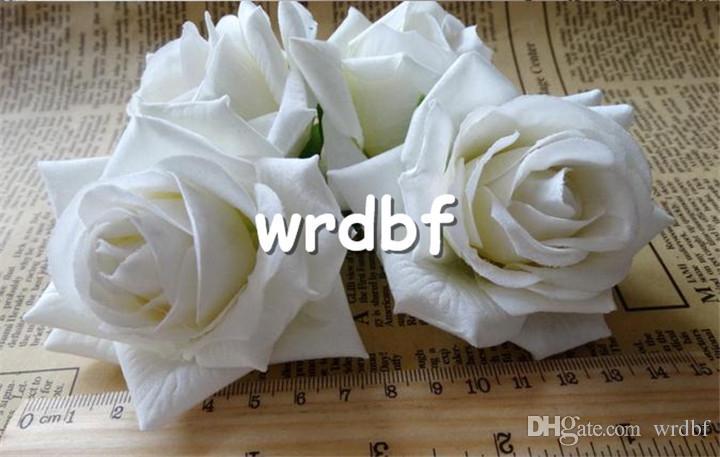 "Single Velvet Rose Flower Head Dia. 6.5cm/2.56"" Artificial Flowers Hexagons Rose for DIY Corsage Garland Bouquet Wedding Flowers"