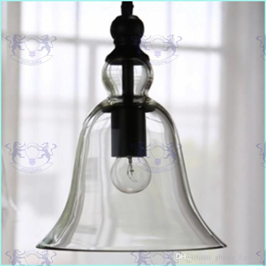 New Antique Vintage Style Glass Shade Ceiling Light Bell Pendant Light European Retro Chandelier Glass Pendant Lamps Glass Pendant Lights