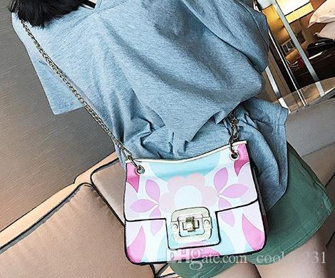 Fashion Sweety flower white leather women Fashion shoulder bag female make up bags small handbag phone bag party cross body bags Great gift