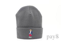 0c4ccc66a5b84c Fashion Cartoon Bear Polo Beanie Street Hip Hop Beanie Winter Warm ...