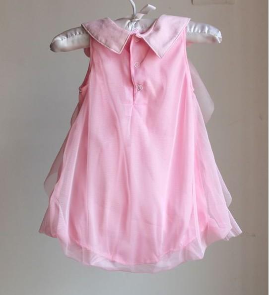 2018 estate abbigliamento infantile nuova estate bambino pagliaccetto del bambino vestito pieno mese neonate principessa abiti da sposa tute al dettaglio TR159