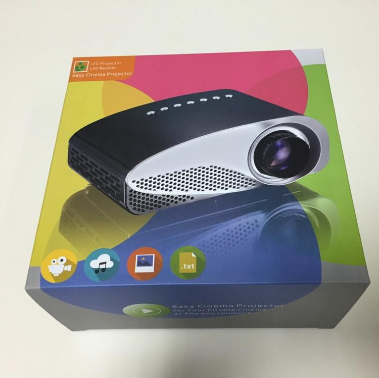Proiettore LED GP8S Proiettore LCD mini Proiettore multimediale 120 lumen Cinema HDMI VGA USB TV Video proyector home theater