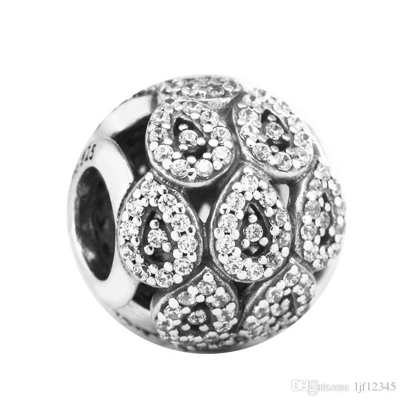 Pandulaso المتتالية بريق سحر واضح تشيكوسلوفاكيا الخرز لصنع المجوهرات صالح باندورا أساور نيكلس امرأة diy صنع المجوهرات