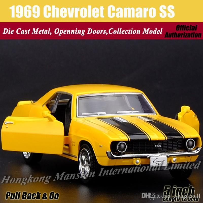 Compre Diecast Modelo De Coche Clasico Para 1969 Chevrolet Camaro Ss
