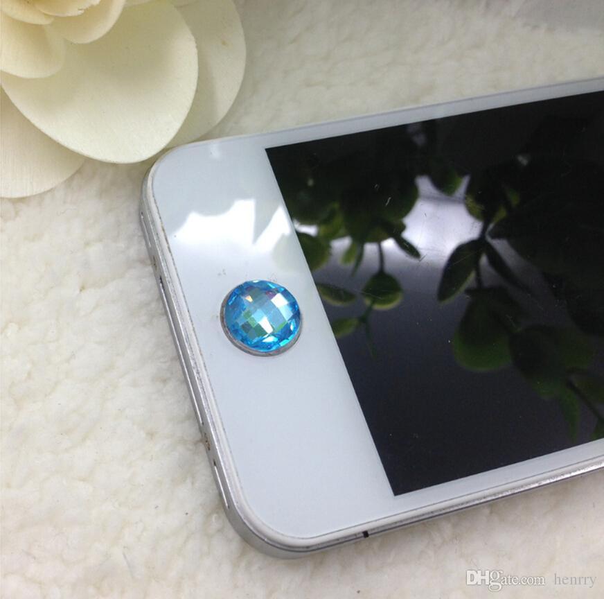 Pour les autocollants de boutons universels de la série Apple. Autocollants bouton strass, protecteur de clé