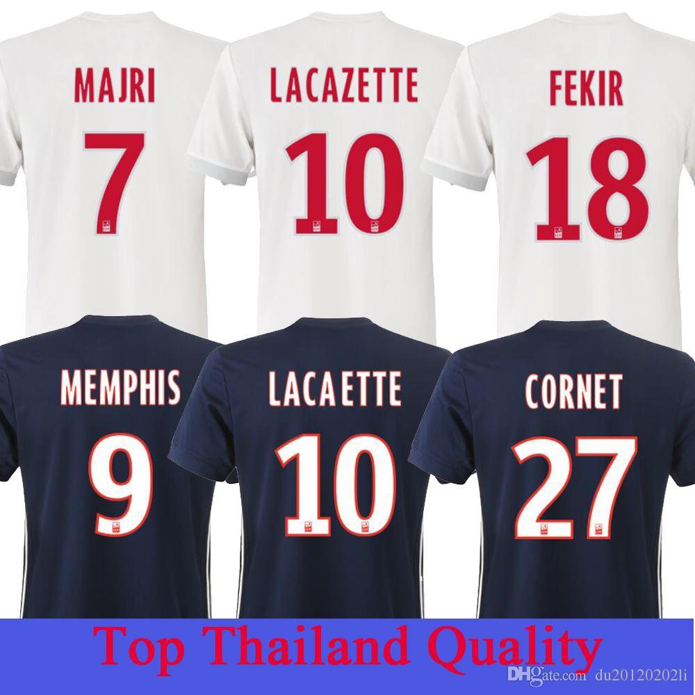 6031eeb370f ... get top thailand quality new 18 ol lyon home soccer jersey abily  lacazette ghezzal memphis valbuena