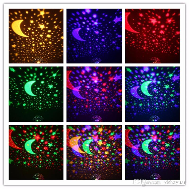 Rotating Night Light Projector Spin Starry Sky Star Master Children Kids Baby Sleep Romantic Led USB Lamp Projection DC5V