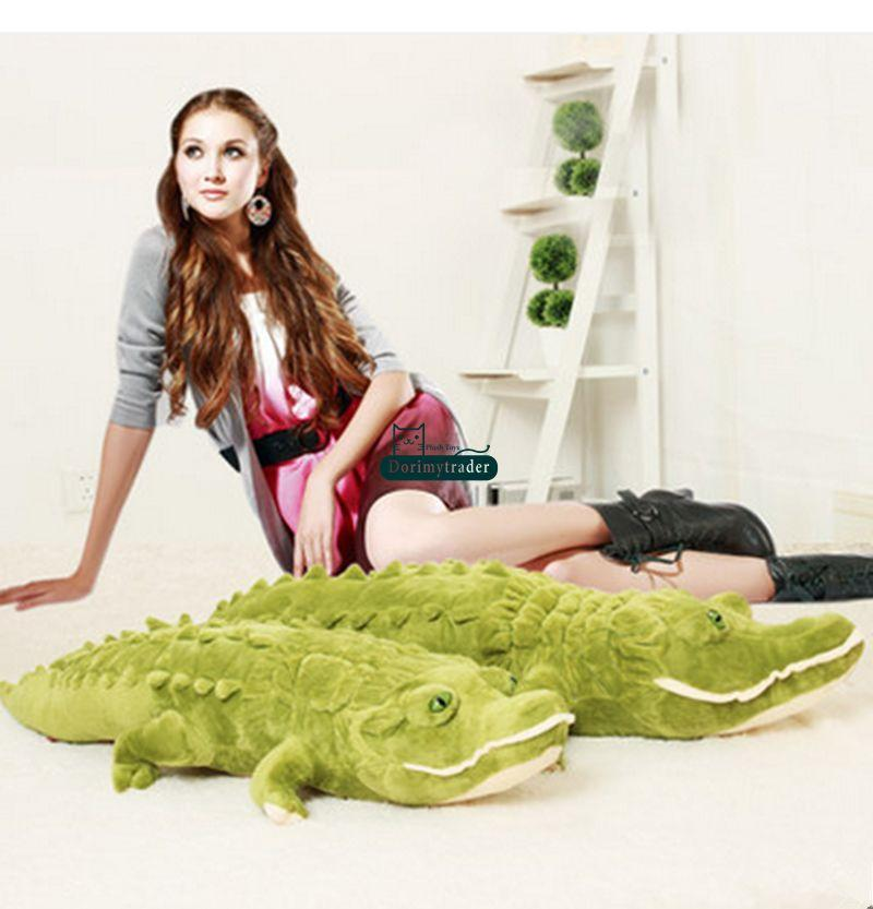 Dorimytrader 75'' / 190cm Jumbo Animal Alligator Stuffed Soft Plush Large Crocodile Toy Nice Gift for Babies Free Shipping DY60877
