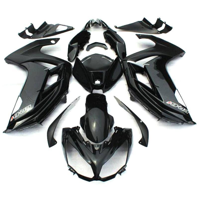 Carenados completos para Kawasaki ER-6f Ninja 650 12 13 14 ER6f 2012 2013 2014 Kits de carenado de motocicleta de plástico ABS Kit de cuerpo negro brillante de cubierta