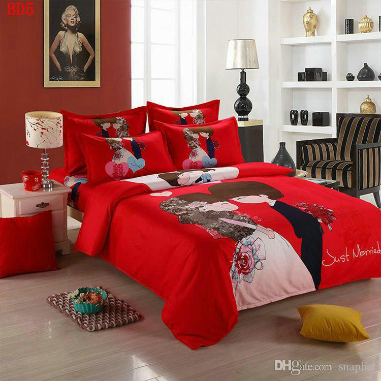 Bedroom Sets For Women cheap bedding sets home textile men and women cartoon upscale suit