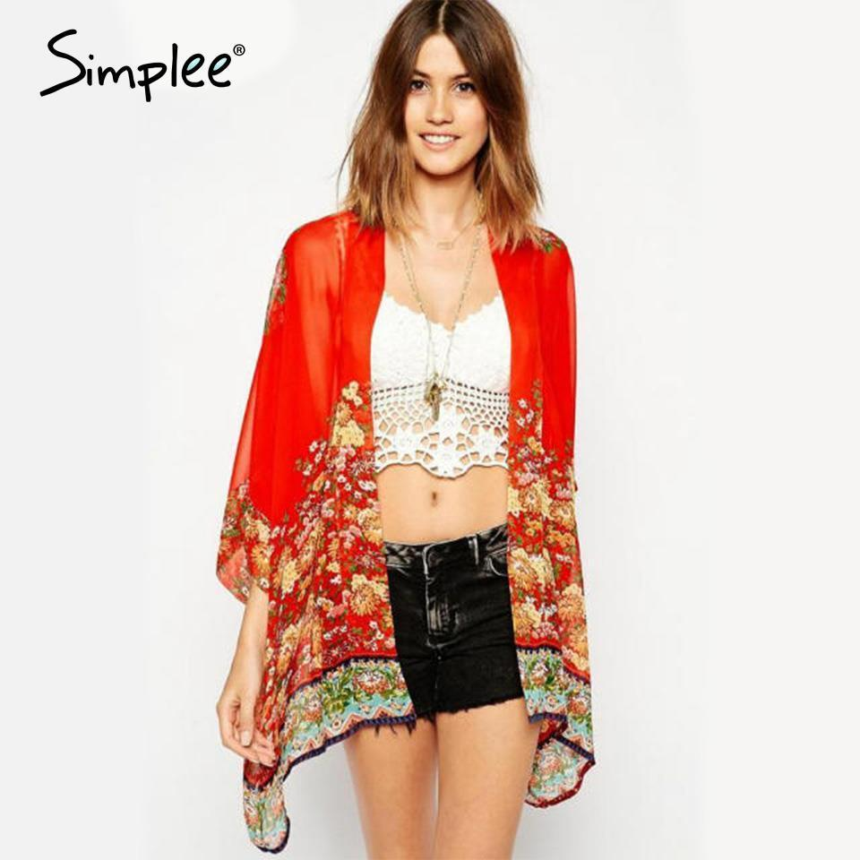 Best Quality Women Kimono Cardigan Loose Casual Chiffon Blouse ...