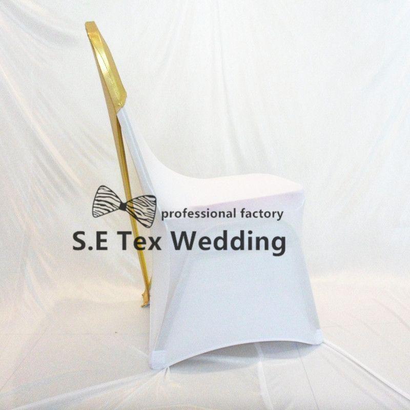 Bronceador oro recubiertas de color la silla de Lycra Spandex Presidente Capucha Hood en forma para el banquete de la boda la cubierta del envío gratuito