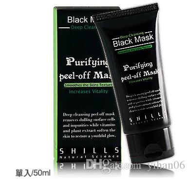 SHILLS Peeling purifiant assainissant en profondeur Black Mud Masque Facail New Blackhead Enlèvement masque facial 50 ml