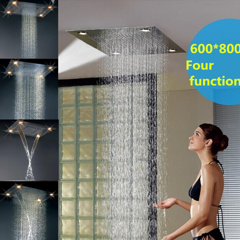Discount Luxury Bathroom Accessories Shower Head Sets Remote Control Led  Waterfall Rainfall Wall Mounted Hand Held Shower Head Bd012 1 From China |  Dhgate.