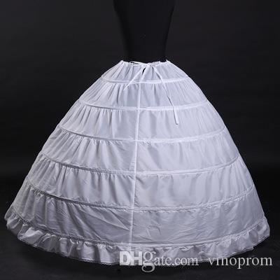 110-120 cm di diametro biancheria intima crinolina 6 cerchio sottoveste abito da ballo abito accessori da sposa abiti da sposa sottogonna