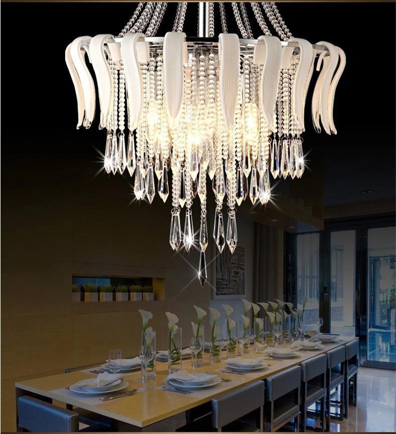 LED aydınlatma tasarımı kristal çiçek modern lüks zarif kristal avize