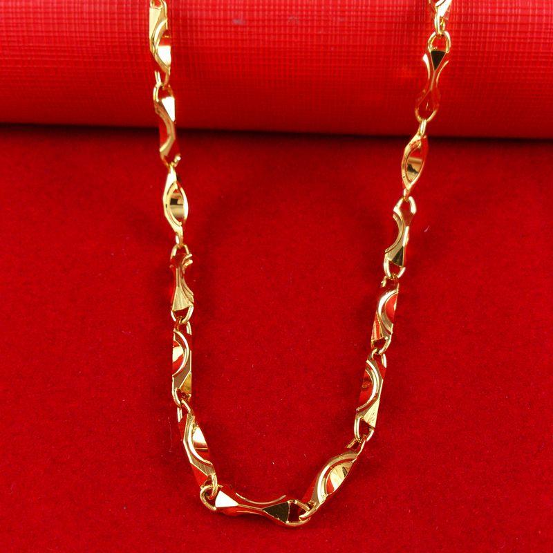 18K желтое золото заполненные Мужчины Женщины ожерелье змея цепи GF ювелирные изделия 20