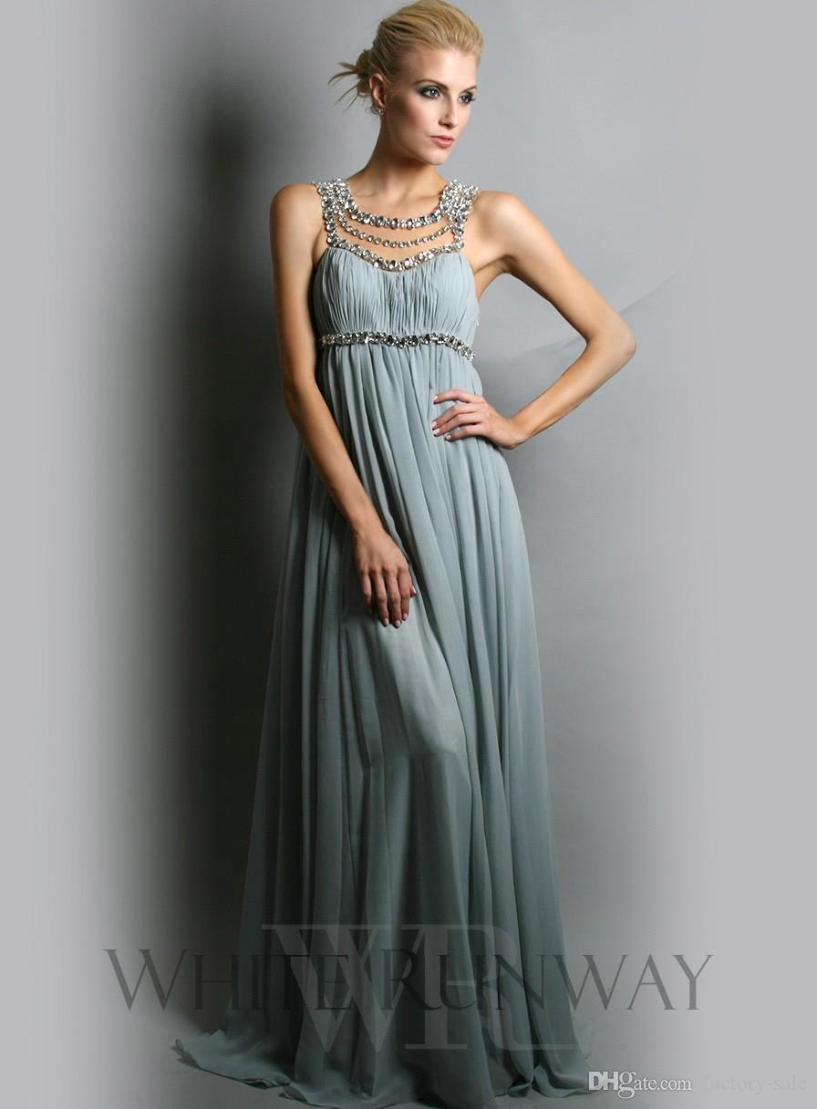 2016 Jennifer Lopez Chiffon Scoop Formal Evening Gowns Empire Full Length Maternity Plus Size Party Dress Beach Bridesmaid Dresses BO6583