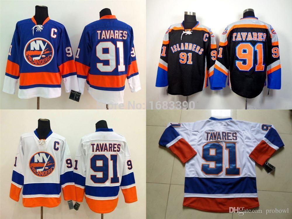 332999c06 2019 New York Islanders Jerseys Tavares Cheap #91 John Tavares Jersey  Authentic Mens NY Islanders Hockey Jerseys Blue/White Black From Probowl,  ...