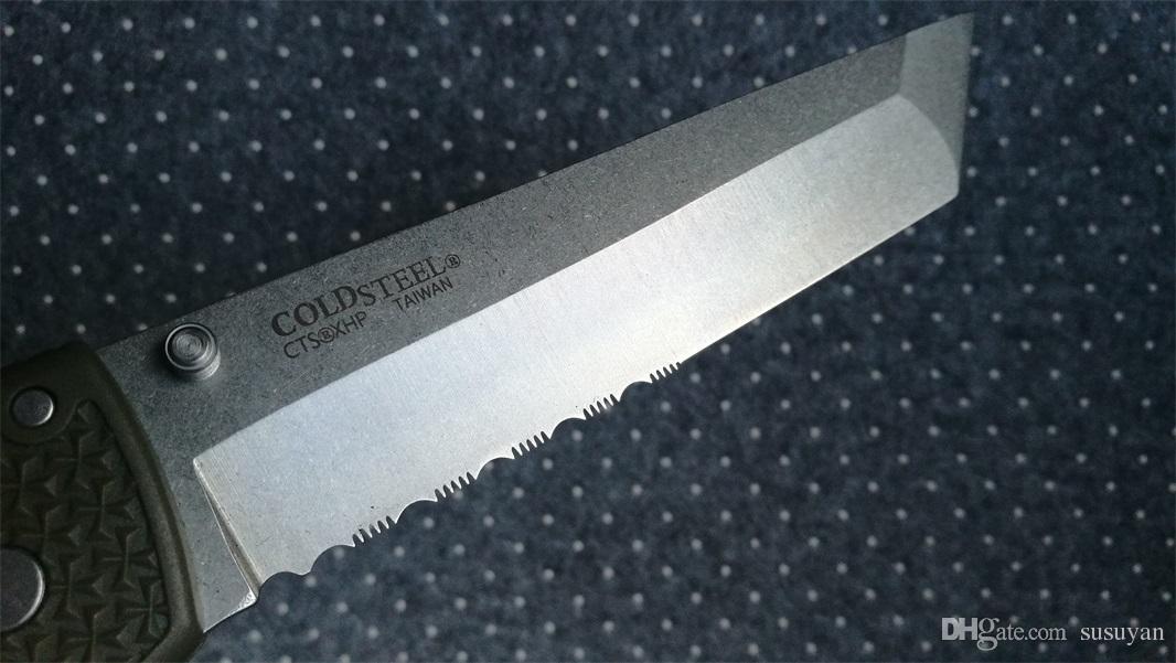 Cold Steel 29UXTGH VOYAGER XL Tactical Knife, D2 Blade Folding Knife, Voyager Knives TANTO Outdoor Pocket Survival Knife Herramientas EDC