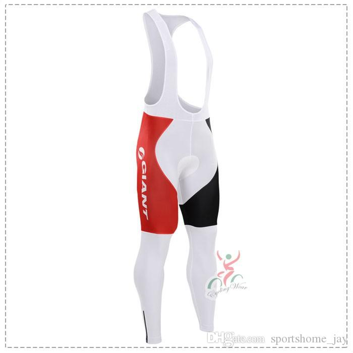 Winter 2015 Giant Team winter Fleece Ropa Ciclismo long sleeve Cycling jersey+bib Pants Set winter thermal fleece cycling clothing