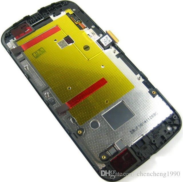 A +++ 5 pçs / lote Nova Qualidade Display LCD Com Tela de Toque Digitador + Substituição Quadro Para Moto Motorola G G2 G3 XT1032 XT1063 XT1054