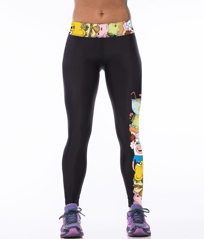 5e883b840fbf Yoga Printed Cartoon Sports Pants Female Outdoor Exercise Workout ...