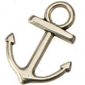 jewelry components anchor charms pendants for sale diy bracelets connectors necklaces antique silver boat hooks wholesales metal 18mm