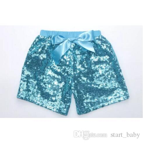 Compre NIÑOS Niña Lentejuelas Pantalones Cortos es Chicas Verano Bowknot Pantalones  Cortos Satén Boutique Pantalones Cortos Niños Caramelo Color Sólido ... 95236d38b866