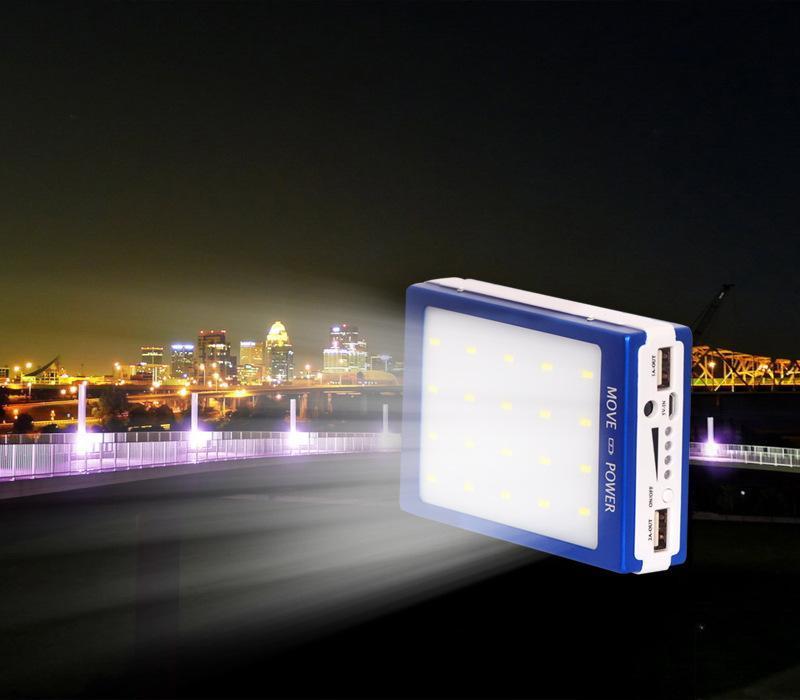 30000 mah güneş 20led kamp ışık şarj 20 led 30000 mah güç bankası kamp ışıkları Çift USB pil Paergy şarj SOS cep Için yardım