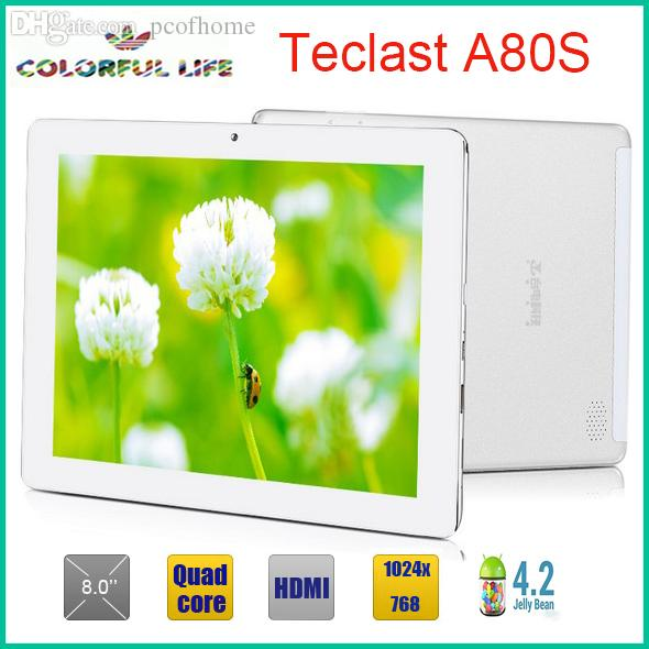 Wholesale-8 inch Teclast A80s A31S Quad Core 1024x768 Android 4 2 tablet pc  1GB/16GB HDMI