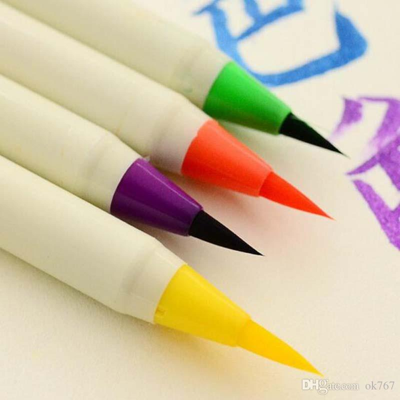 Creative Platinum Japanese Calligraphy Pens Colorful New Soft Brushes Pen Chinese Calligraphy Brush