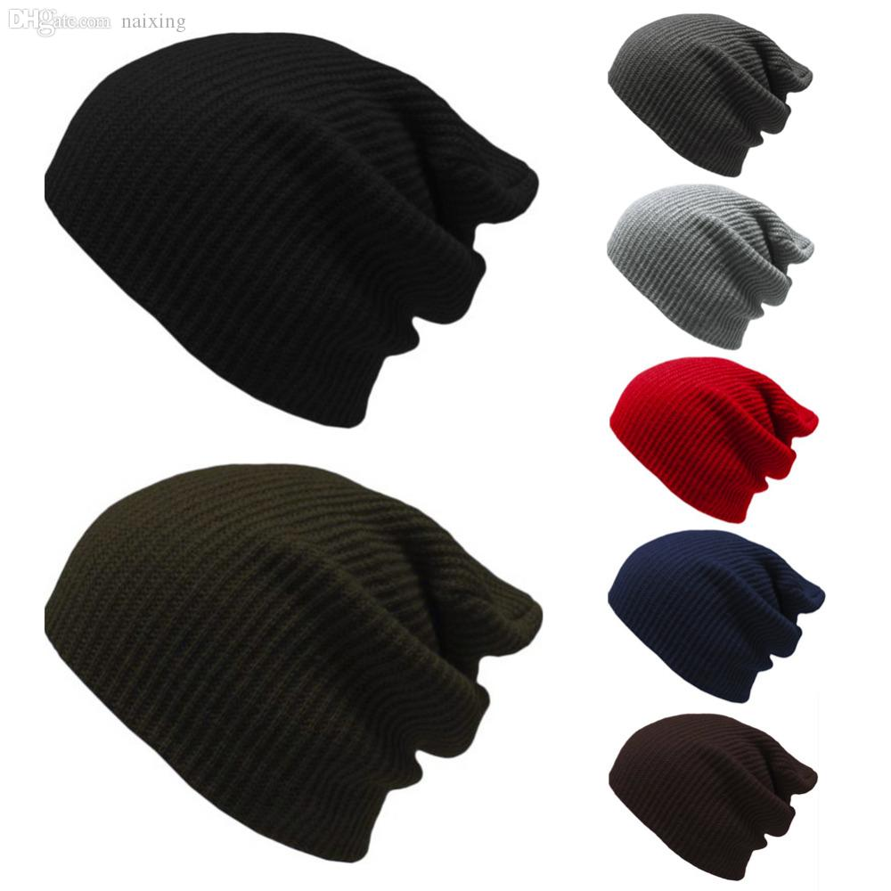 b22f71d2fce Wholesale New And Active Knit Men S Women S Baggy Beanie Oversize Winter Hat  Ski Slouchy Chic Cap Slouchy Beanie Skull Cap From Naixing