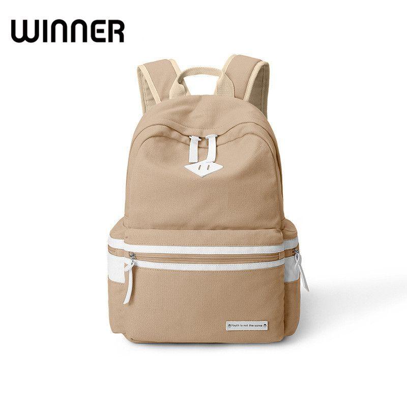 0d2be9550b Winner Brand Casual Solid Simple Women Bagpack Canvas School Backpacks for  Teenage Girls Preppy Students BookBags