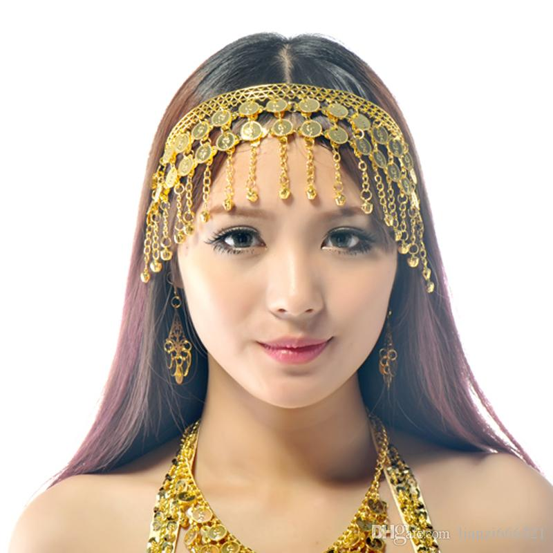 2019 Belly Dance Bollywood Costume Tribal Jewelry Gold