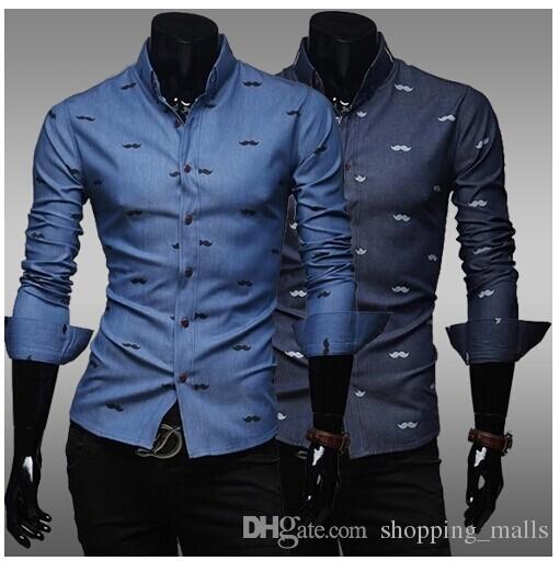 Discount Mens Casual Shirts Man Designs Shirts Printed Design Long ...