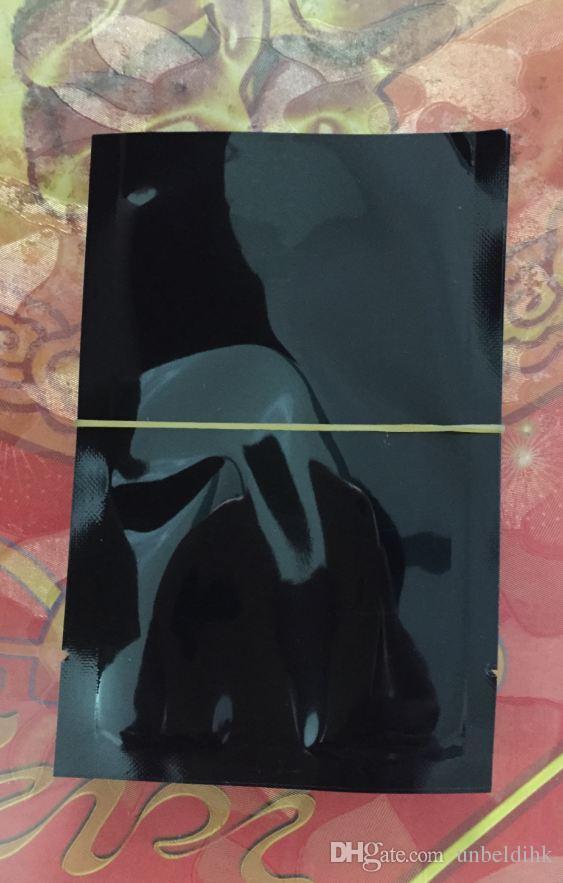 8 * 12 الدرجة العالية أسود 100 قطعة / الوحدة الحرارة ختم مبهمة ضوء أسود برهان الألومنيوم احباط كيس الحرارة ختم كيس التغليف حقيبة الغذاء مسحوق التوابل