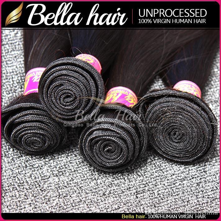 9A Populär Peruvian Hair Extensions Double Weft Naturlig färg Rak mänskligt hår 2st / Mixed Length Hårbuntar Gratis frakt