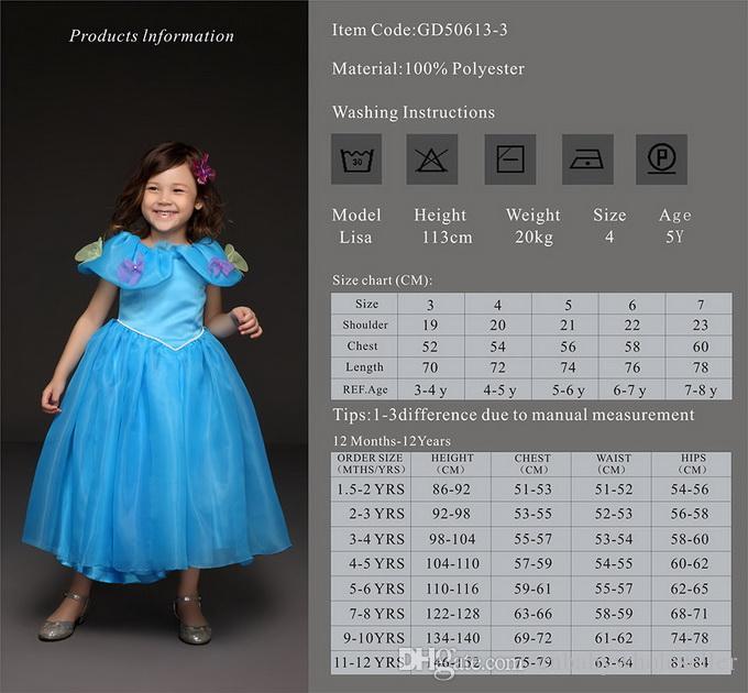 Pettigirl Retail Золушка Принцесса платья девушка партия платье Нового дизайн Специального воротник дети лето костюм падение Покупка GD50613-3