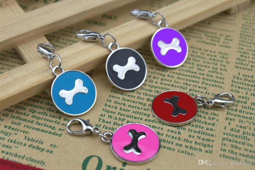 High quality Zin Alloy card Pet Dogs Cats Tag Collar Metal Anti Lose Puppy Cat pet id tags dog cat tag dog