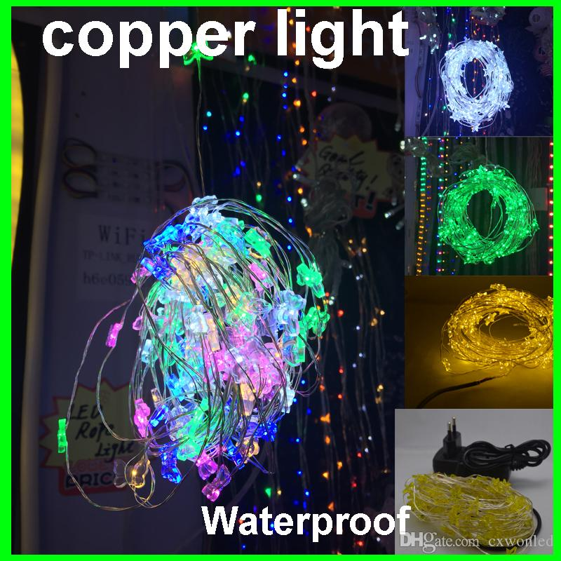 Factory Price 10m 100 light 10m Holiday LED Copper String Light Decoration Fairy Light With Copper Wire +12v 2A power supply