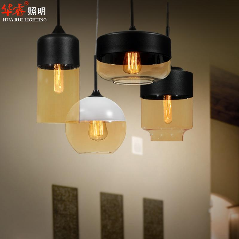 wholesale modern brief design diy metal glass lampshade e27 edison