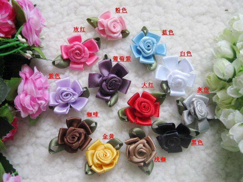 Mix 25cm Handmade Silk Flower Dress Decoration Ribbon Silk Corsage