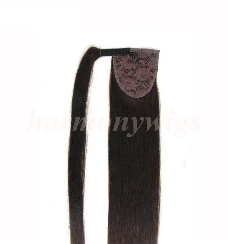 Бразильские волосы хвостик человеческие волосы хвостики 20 22 дюймов 100 г прямой Индийский клип наращивание волос больше цвета