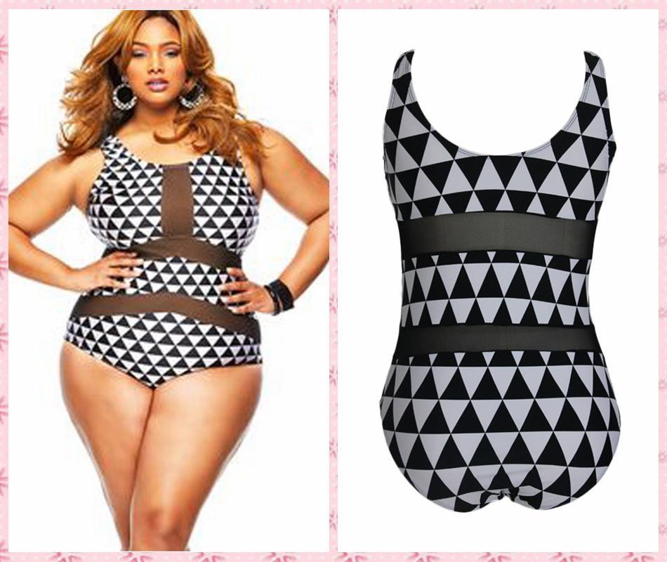 Extrêmement Online Cheap Maillot De Bain Plus Size One Piece Swimsuit Xxl Xxxl  HI89